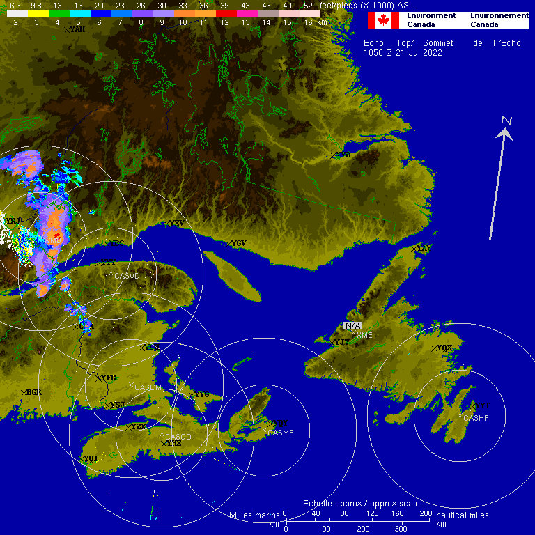 East Coast radar