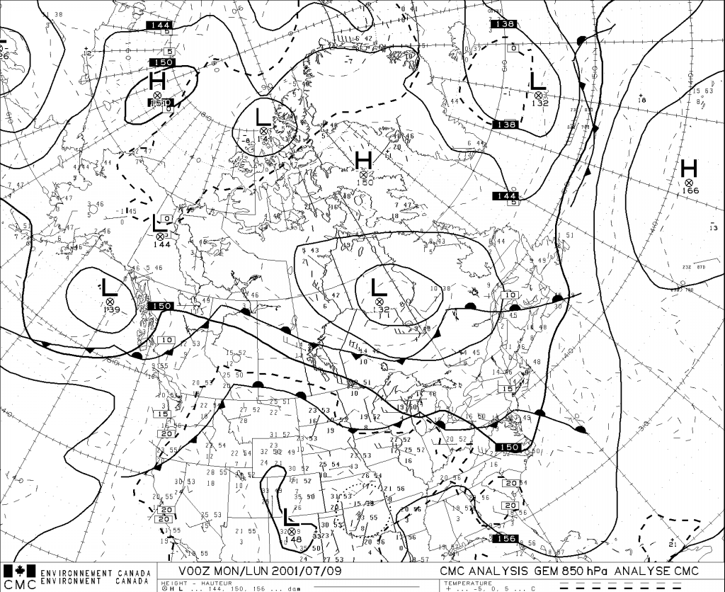 Awws users guide weather products example of a 850 hpa upper air analysis buycottarizona Gallery